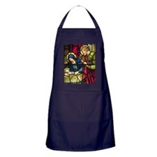 Stained Glass Nativity Apron (dark)