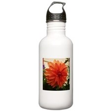 Orange Dahlia Water Bottle