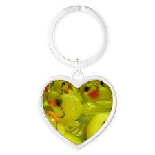 Ducky Heart Keychain