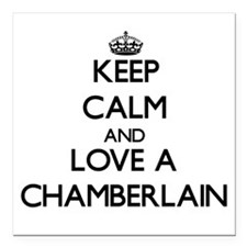 Keep Calm and Love a Chamberlain Square Car Magnet