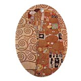 Klimt Embrace Art Deco Pendant Oval Ornament