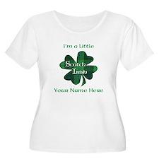Green Plaid Scotch Irish Shamrock Plus Size T-Shir