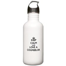 Keep Calm and Love a Counselor Water Bottle