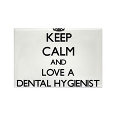 Keep Calm and Love a Dental Hygienist Magnets