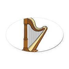 Musical Harp Oval Car Magnet