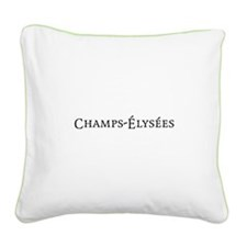 Champs-Élysées Square Canvas Pillow