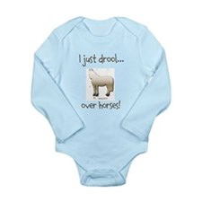 Horse Theme Long Sleeve Infant Bodysuit #9524