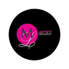 """Modern and Elegant Stylist Monogram 3.5"""" Button"""