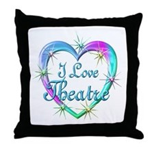 I Love Theatre Throw Pillow