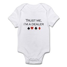 Trust me, I'm a dealer / Poker Infant Bodysuit