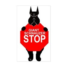 Sticker giant schnauzer stop