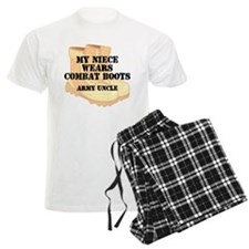 Army Uncle Niece Desert Combat Boots Pajamas