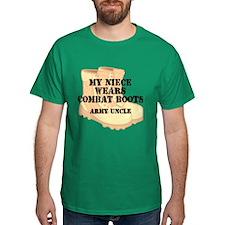 Army Uncle Niece Desert Combat Boots T-Shirt