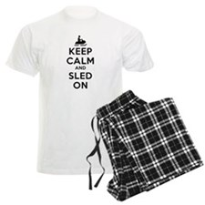 Keep Calm Sled On Pajamas