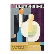 Art Deco Couple, Theatre, Vintage Poster 5'X7'area