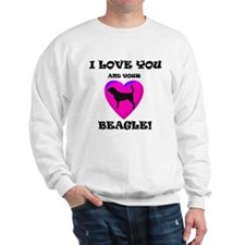 Valentine's Beagle Sweatshirt