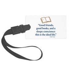 Good Friends, Good Books - Luggage Tag