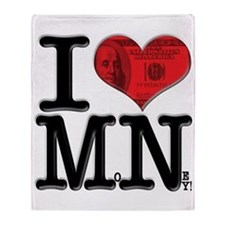 I Love MoNey Throw Blanket