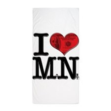 I Love MoNey Beach Towel