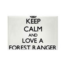 Keep Calm and Love a Forest Ranger Magnets