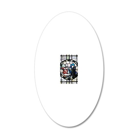 Saint Catherine of Sienna 20x12 Oval Wall Decal