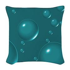 Teal Bubbles Woven Throw Pillow