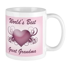 World's Best Great Grandmother (Heart) Mug