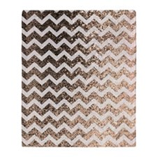 Glitter Bling Sparkly Chevron Patter Throw Blanket