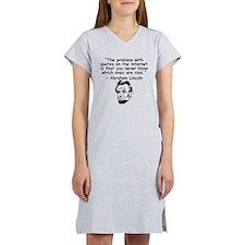 Abraham Lincoln Internet Quote Women's Nightshirt