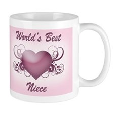 World's Best Niece (Heart) Mug