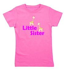 Little Sister Giraffe Girl's Tee