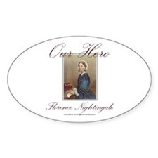 Our Hero Florence Nightingale Oval Decal