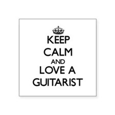 Keep Calm and Love a Guitarist Sticker