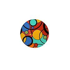 Pop Art Dots Mini Button
