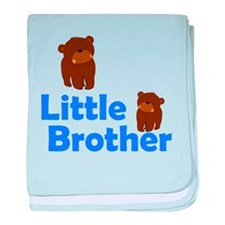 Little Brother Brown Bear baby blanket