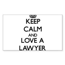 Keep Calm and Love a Lawyer Decal