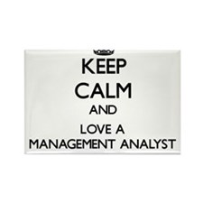 Keep Calm and Love a Management Analyst Magnets