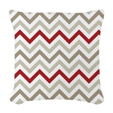 Winter Zig Zags Woven Throw Pillow