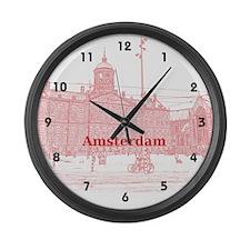 Amsterdam Large Wall Clock