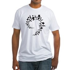 Traditional Bird Flock Spiral T-Shirt