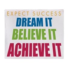 Expect Success Throw Blanket
