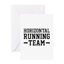 Horizontal Running Team Greeting Card
