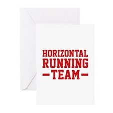 Horizontal Running Team Greeting Cards (Pk of 10)
