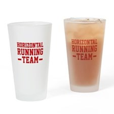 Horizontal Running Team Drinking Glass