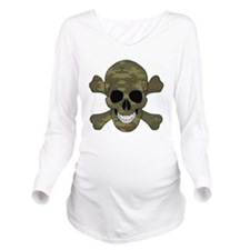 Camouflage Skull And Cross Bones Long Sleeve Mater