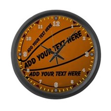 Basketball Large Wall Clock