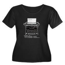 Write on Plus Size T-Shirt
