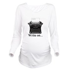 Write on Long Sleeve Maternity T-Shirt