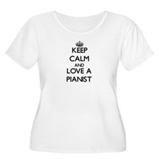 Keep Calm and Love a Pianist Plus Size T-Shirt