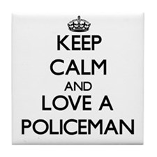 Keep Calm and Love a Policeman Tile Coaster